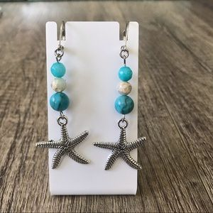 Turquoise Shoushan Gemstone Startish Charm Earring